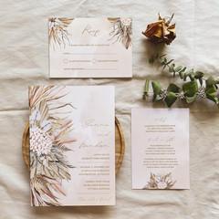 Seychelles   Printed Wedding Invitation Set