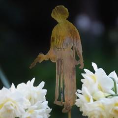 Princess Leia Brass Garden Decoration