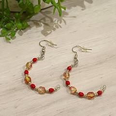 Ruby Crescent Earrings