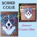 Border Collie Serving Board