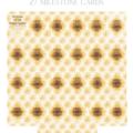 Sunflowers personalised milestone cards