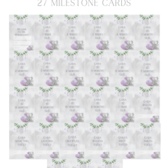 Ellie Love personalised milestone cards