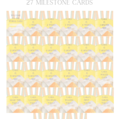 Here Comes The Sun personalised milestone cards