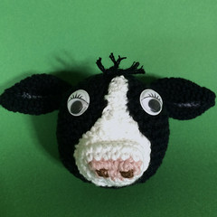 Black Cow with White Markings - Ball Toy