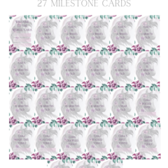 Wild and Free Personalised milestone cards