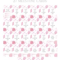 Floral blush personalised milestone cards