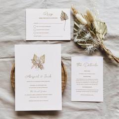 Tahiti | Printed Wedding Invitation Set