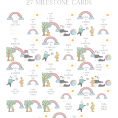 Summer Frolic personalised milestone cards