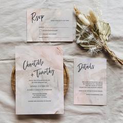 Seville   Printed Wedding Invitation Set