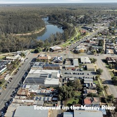 TOCUMWAL FROM ABOVE POSTCARD