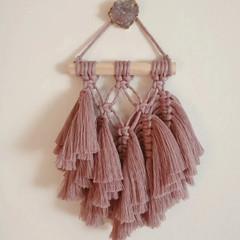 Macrame wall hanging - small smokey lavender