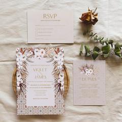 Persia | Printed Wedding Invitation Set
