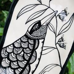 Bird with gumnut plate