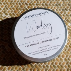 Whipped natural shea butter - Woodsy