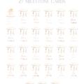 Sweet Dreams personalised milestone cards