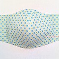 #20 : 3 LYR COTTON FACE MASK w/ FILTER POCKET + WITH/or/WITHOUT WIRE