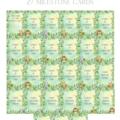 Jungle babies personalised milestone cards