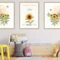 Sunflowers Personalised Wall Prints