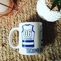 PERSONALISED FOOTY AFL COFFEE MUG   FATHER'S DAY