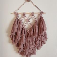 Macrame wall hanging - medium smokey lavender