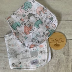 Burp cloth bandana bib, baby boy gift set, baby shower.