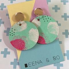 Handpainted pastel earrings