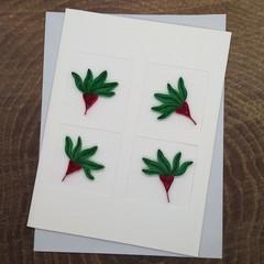 Trifold Card Kangaroo Paw Red/Green