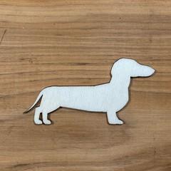 Sausage dog or Dachshund plywood blank shape unfinished - various sizes