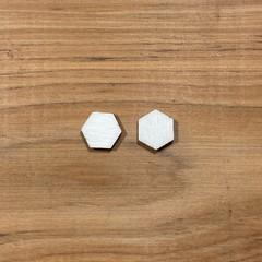 Hexagonal geometric plywood blank shape unfinished - various sizes