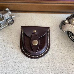Hand Crafted Brown Leather Coin Pouch