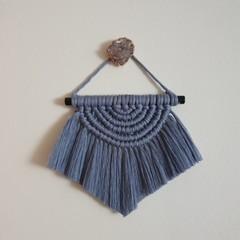 Macrame wall hanging - small blue moon