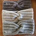 Woollen Crochet Twisted HeadBand.
