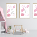 Floral Blush Personalised Wall Prints
