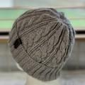 KeepSake Cable Pattern Handmade Knitted Beanie - Swiss Brown