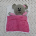 Teddy Bear Softie: READY TO POST, Crochet Toy, Girl Gift