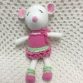 Mouse: FREE POSTAGE, Ready to Post, Crochet Toy,  Girl Gift