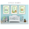 Jungle Babies Personalised Wall Prints