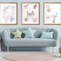 Butterfly Kisses Personalised Wall Prints