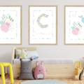 Springtime Peony Personalised Wall Prints