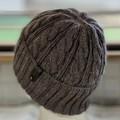 KeepSake Cable Pattern Handmade Knitted Beanie - Wood