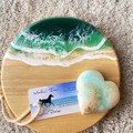 Midnight Green   Cheese Board Set   Personalised