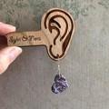 Purple Marbled Heart Dangles | Heart-shaped earrings | Dangle Earrings