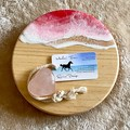 Pink & Strawberry Sparkle   Ocean Resin   Cheese Board Set   Personalised