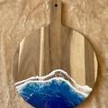 Rich Blue & Aqua | Personalised Serving Board | Cheese Board