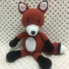 Fox: FREE POSTAGE, Ready to Post, Crochet Toy,  Girl Gift
