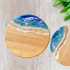 Rich Blue & Aqua | Cheese Board Set | Personalised