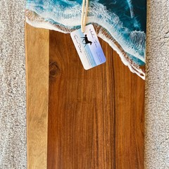 Dark Turquoise Shimmer | Ocean Personalised Serving Board | Cheese Board |