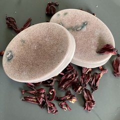 Handmade Goats Milk Soap with Brazilian Purple Clay and Hibiscus