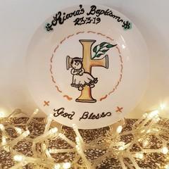 Baptism Hand painted personalized plates (keepsakes)