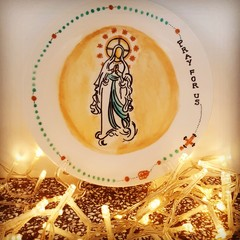 Religious -Hand painted personalized plates (keepsakes)